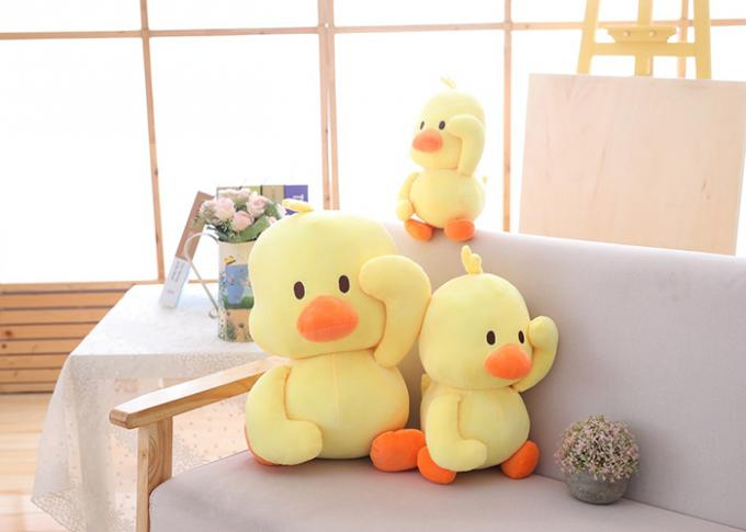 Wholesale cute little yellow duck animal cartoon blanket plush toys for kids