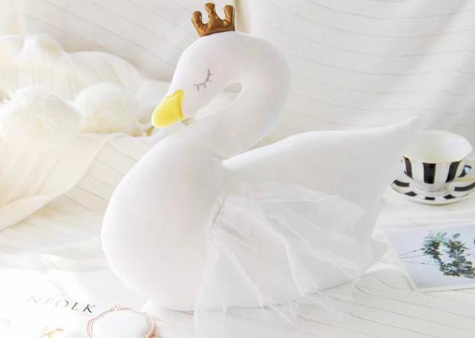 35cm Size Personalised Plush Toys White Swan Pillow Blanket Stuffed Animals Soft Doll