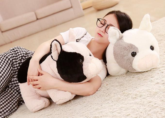 Fully Filling Cute Plush Pillows / Pig Soft Toy 30 - 50cm Size For Children