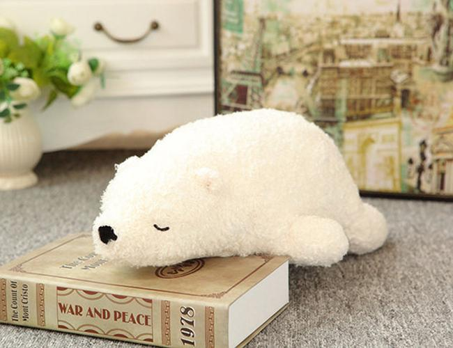 Stuffed Animal Plush Toys 70cm Size 0.8kg Pure White Teddy Bear Soft Toy