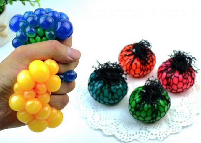Funny Creative Decompression Toys / Vent Grape Ball Color Optional For Hand Pinch