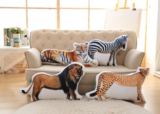 Lion Pattern Custom Plush Toys 100% PP Cotton Fill In For Sofa Cushion