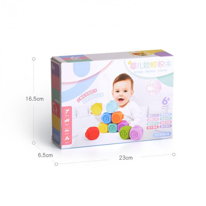 Plastic Infant Baby Toys Cognitive Hand Grasping Pinch Puzzle Building Blocks
