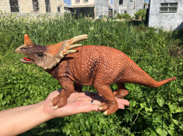 China L30*W10*H14 Walking Triceratops Toy / Plastic Triceratops Dinosaur Toy supplier
