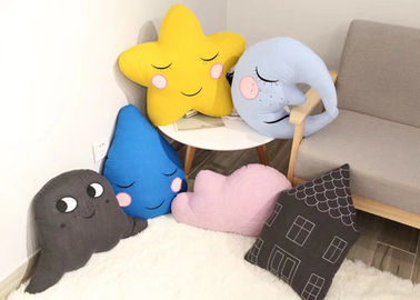 China Cartoon Design Cute Plush Pillows Moon / Star Shaped Cushion For Baby supplier