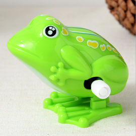 China 5 Cm Long Classic Wind Up Toys / Green Frog Wind Up Toy For Preschool Education supplier
