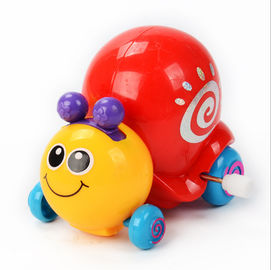 China Interesting Pull Back Toys , Size Customized Snail Wind Up Toy With Red Shell supplier