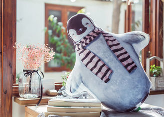 China Simulation 3D Penguin Decorative Pillows / Personalised Penguin Cushion supplier