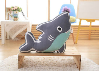 China Home Decoration Custom Plush Toys 35*60cm Size Kids Shark Pillow 0.9kg Weight supplier