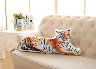 China Super Soft Custom Plush Toys Simulation 3D Animal Tiger Pets Sofa Cushion supplier