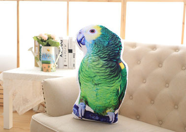 China Parrot Shaped 3d Animal Pillow , Kids Animal Pillows For Sofa Cushion supplier