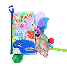 China 0-2 Years Old Eco Friendly Baby Toys Waterproof And Tear Resistant Tail Cloth Book supplier