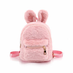 China Cartoon Cute Small Rabbit Plush Backpack / Plush Bag For Children In Pink Color supplier