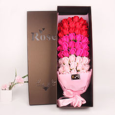 China Creative Birthday Gift Rose Shaped Soap Gradient Bouquet 66 Soap Flower supplier