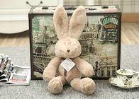 Fashion Custom Stuffed Bunny Rabbit Toys / Kids Plush Pillows 17-37 cm Size