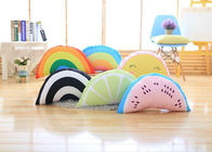Colorful Cute Plush Pillows / Rainbow Shaped Pillow With 100% PP Cotton Fill In