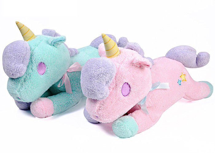 Stuffed Animal Cute Plush Pillows Pink Unicorn Slippers For Child Toy