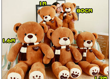 New Scarf Bear Plush Toy Cartoon Love Bear Doll For Girl Birthday Gift