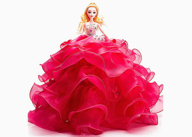 Popular Beautiful Wedding Doll Toy Color / Size Customized For Girls