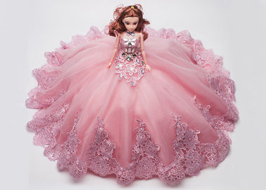 China Personalized Simulation Princess Dress Doll , Dress Up Wedding Dolls 45cm Size factory
