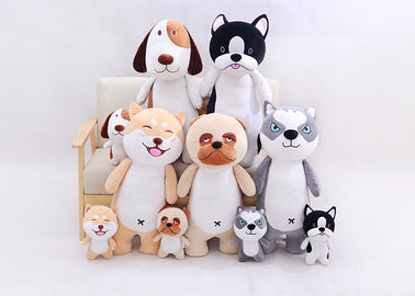 EN71 Lovely Stuffed Animal Dog Toys 27cm / 60cm / 80cm Size With PP Cotton Material