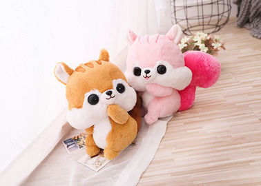 Christmas Gift Animal Plush Toys / Stuffed Squirrel Toy With Long Tail Standing