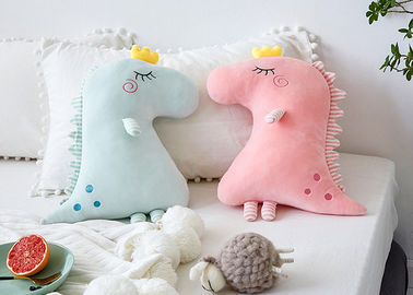 Colorful Dinosaur Shaped Pillow , Stuffed Animal Pillows For Girlfriend Gift