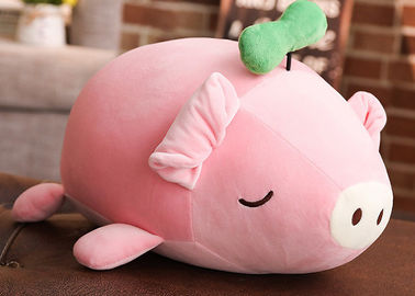 Girls Custom Plush Toys / Simulation 3D Cute Pig Stuffed Toy With 100% PP Cotton Fill In