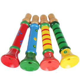 13cm Cartoon Wooden Small Trumpet Eco Friendly Baby Toys For Christmas Present