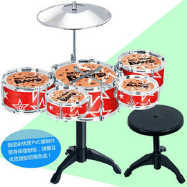 5 Drums Plus A Stool Toy Musical Instruments , Baby Musical Instruments