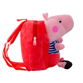 China Kindergarten Pig Stuffed Animal Backpack 1-3 Years Old Baby Early Education Qi Meng factory