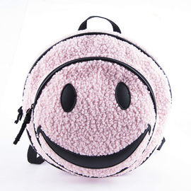 Durale Cute Smiley Small Plush Toy Backpack Bag For Three Age + People